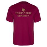 Performance Maroon Tee-Grandpa