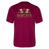 Performance Maroon Tee-Bobcats Football