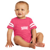 Vintage Hot Pink Jersey Onesie-TXST Texas State