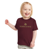 Toddler Maroon T Shirt-Texas State Secondary