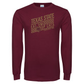 Maroon Long Sleeve T Shirt-Eat em up Cats
