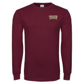 Maroon Long Sleeve T Shirt-TXST Texas State