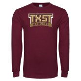 Maroon Long Sleeve T Shirt-TXST Bobcats