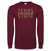 Maroon Long Sleeve T Shirt-Class of Design