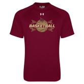 Under Armour Maroon Tech Tee-Bobcats Basketball