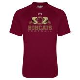 Under Armour Maroon Tech Tee-Bobcats Football