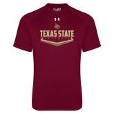 Under Armour Maroon Tech Tee-Texas State Softball