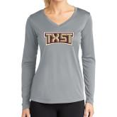 Ladies Syntrel Performance Platinum Longsleeve Shirt-TXST Texas State