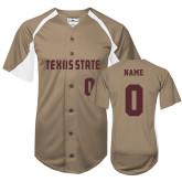 Replica Vegas Gold Adult Baseball Jersey-Personalized