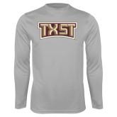 Performance Platinum Longsleeve Shirt-TXST Texas State