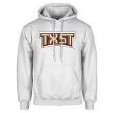 White Fleece Hoodie-TXST Texas State
