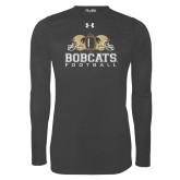 Under Armour Carbon Heather Long Sleeve Tech Tee-Bobcats Football