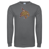 Charcoal Long Sleeve T Shirt-Bobcat Logo