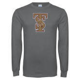 Charcoal Long Sleeve T Shirt-Baseball TS