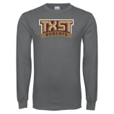 Charcoal Long Sleeve T Shirt-TXST Bobcats