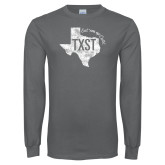 Charcoal Long Sleeve T Shirt-TXST Eat em up Cats