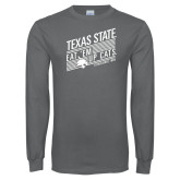 Charcoal Long Sleeve T Shirt-Eat em up Cats