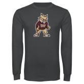 Charcoal Long Sleeve T Shirt-Mascot