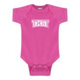 Fuchsia Infant Onesie-TXST Texas State