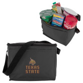 Six Pack Grey Cooler-Texas State Logo Stacked