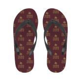 Ladies Full Color Flip Flops-Texas State Logo Stacked