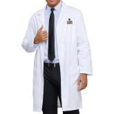 Mens White Lab Coat-Texas State Logo Stacked