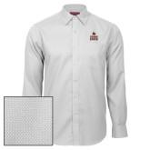 Red House White Diamond Dobby Long Sleeve Shirt-Texas State Logo Stacked