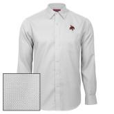 Red House White Diamond Dobby Long Sleeve Shirt-Bobcat Logo