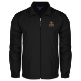 Full Zip Black Wind Jacket-Texas State Logo Stacked
