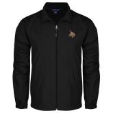 Full Zip Black Wind Jacket-Bobcat Logo