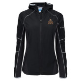 Columbia Ladies Sweet As Black Hooded Jacket-Texas State Logo Stacked