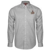 Red House Grey Plaid Long Sleeve Shirt-Texas State Logo Stacked