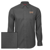 Red House Dark Charcoal Diamond Dobby Long Sleeve Shirt-TXST Texas State