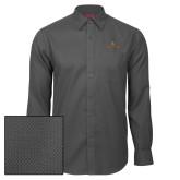Red House Dark Charcoal Diamond Dobby Long Sleeve Shirt-Texas State Secondary