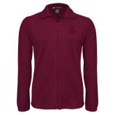 Fleece Full Zip Maroon Jacket-Texas State Logo Stacked