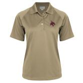 Ladies Vegas Gold Textured Saddle Shoulder Polo-Bobcat Logo