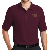 Maroon Easycare Pique Polo-Texas State Stacked