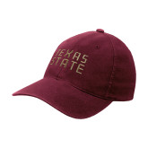 Maroon Flexfit Mid Profile Hat-Texas State Stacked