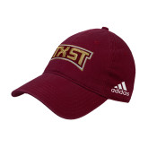 Adidas Maroon Slouch Unstructured Low Profile Hat-TXST Texas State