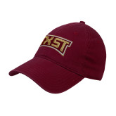 Maroon Twill Unstructured Low Profile Hat-TXST Texas State