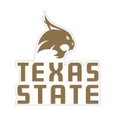 Small Magnet-Texas State Logo Stacked, 6 inches tall