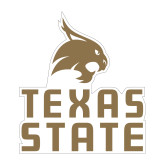 Medium Magnet-Texas State Logo Stacked, 8 inches tall