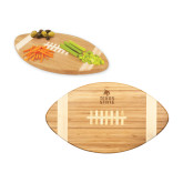 Touchdown Football Cutting Board-Texas State Logo Stacked Engraved
