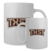 Full Color White Mug 15oz-TXST Texas State