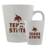 Full Color Latte Mug 12oz-Texas State Logo Stacked