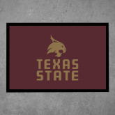 Full Color Indoor Floor Mat-Texas State Logo Stacked