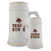 Full Color Decorative Ceramic Mug 22oz-Texas State Logo Stacked