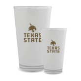 Full Color Glass 17oz-Texas State Logo Stacked