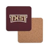 Hardboard Coaster w/Cork Backing-TXST Texas State