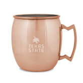 Copper Mug 16oz-Texas State Logo Stacked Engraved